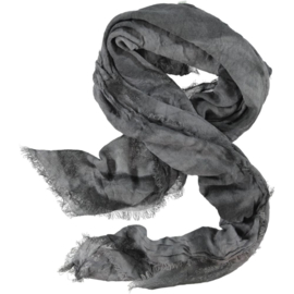 Winter scarf grey lavender tie & dye crinkle. wool-look 150 x 150cm