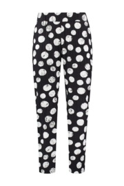 ELSEWHERE broek - zwart wit dot