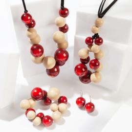 ZSISKA earrings brown. BOLAS