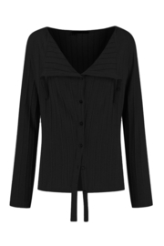 ELSEWHERE cardigan BEAU  - black, Relief jersey
