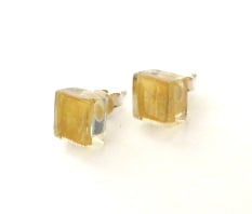 ZSISKA earrings gold 10 x 10mm.  PRECIOUS