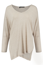 ELSEWHERE pullover OLIVIA - naturel linnen jersey