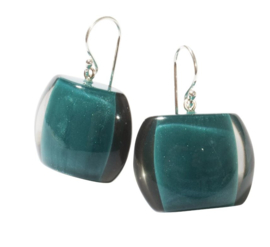ZSISKA earrings petrol green, BELLISSIMA.
