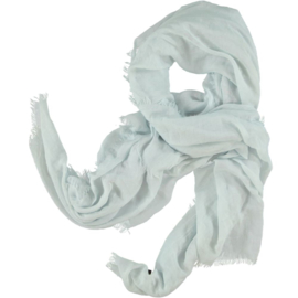 D&A scarf in ultra light blue, 100 x 190cm