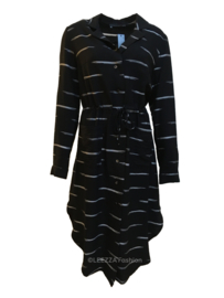 ELSEWHERE long tunic with woven fabric with stripes STYLE 3205
