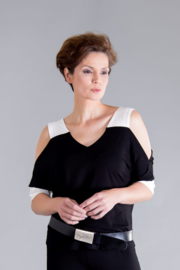 ELSEWHERE off shoulder top STYLE 3269