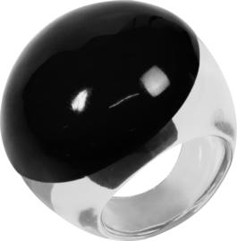 ZSISKA ring zwart COLOURFUL STATEMENT
