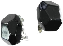 ZSISKA earrings black CLIP - MELODY