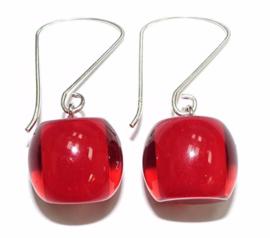 ZSISKA oorbellen rood COLOURFUL BEADS