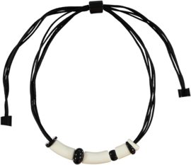 ZSISKA necklace white black POP ART
