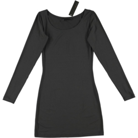 ELSEWHERE top - tunic dress grey  jersey. length 90 cm. STYLE 1247