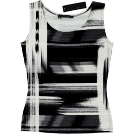 ELSEWHERE singlet jersey black print 601B2