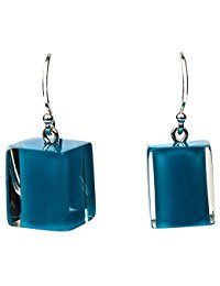 ZSISKA earrings turquoise green CUBES