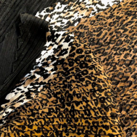 A-zone tijgersjaal plisse bruin zwart offwhite, 100x100cm