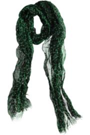 A-zone sjaal groen zwart met panterprint