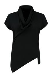 ELSEWHERE top SAM- zwart travel / tech jersey