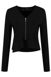 ELSEWHERE vestje  PAULA- zwart jersey
