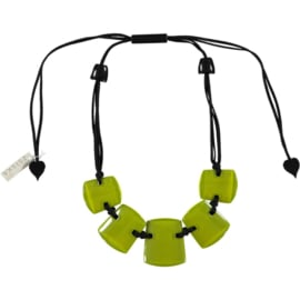 ZSISKA necklace green lime, 5 beads ISIS