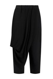 ELSEWHERE pants - black, Linen & Linen jersey