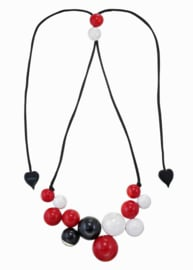 ZSISKA necklace black white red BOLAS