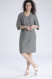 VETONO striped linen dress