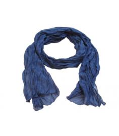 A-zone sjaal krinkel batist - blauw - groen - geel 50 x 180cm