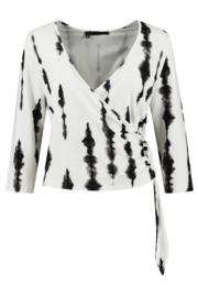 ELSEWHERE wrap cardigan JULIA - black, Print jersey