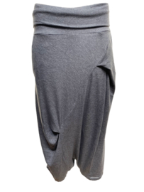 ELSEWHERE broek dhoti stijl melange grijs STYLE 3328