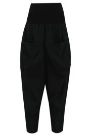 ELSEWHERE broek - zwart travel jersey