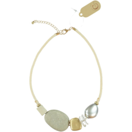 CONSTANSA necklace short style 6 beads 56 cm