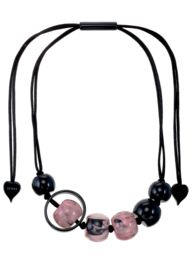 ZSISKA necklace pink black, SATURN