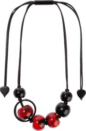 ZSISKA necklace red black  SATURN