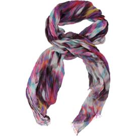 A-zone sjaal fuchsia paars ikat print