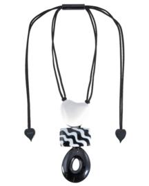 Zsiska necklace black white mix  ACAPULCO