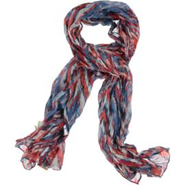 A-zone scarf zig zag print, 80 x 190cm viscose