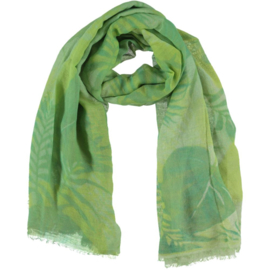 D&A sjaal  groen kiwi lime print,100x190cm
