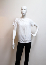 ELSEWHERE top offwhite with woven lines STYLE 3202