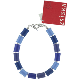ZSISKA armband lavendel oogsluiting 14 CUBES.