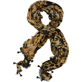 ROMANO scarf abstract animal print on jersey, 100 x 180cm