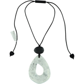 ZSISKA necklace grey light marbled pendant ORGANIC