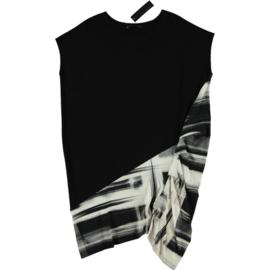 ELSEWHERE tuniek zwart/wit STYLE 3271A