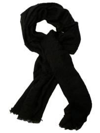 Otracosa sjaal zwart met borduursels