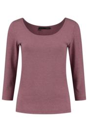 ELSEWHERE basis top 3/4 mouw LARA  - coral jersey