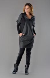 ELSEWHERE tunic / dress, punto jersey & coated fabric. SIZE S -STYLE 2704