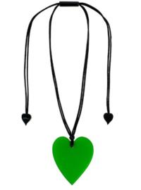 ZSISKA ketting groen hart HEARTS