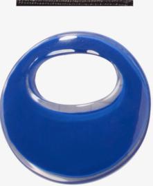 ZSISKA oorbellen kobaltblauw rond, ELEMENTAL.