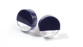 ZSISKA oorbellen blauw marine transparant CUT OUT.