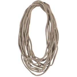 BORIS t-shirt scarf necklace camel