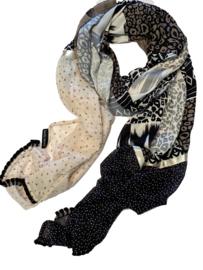 Ravelli sjaal patchwork van prints