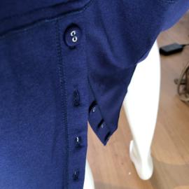 Vetono rok kobalt blauw jersey split achter size 1